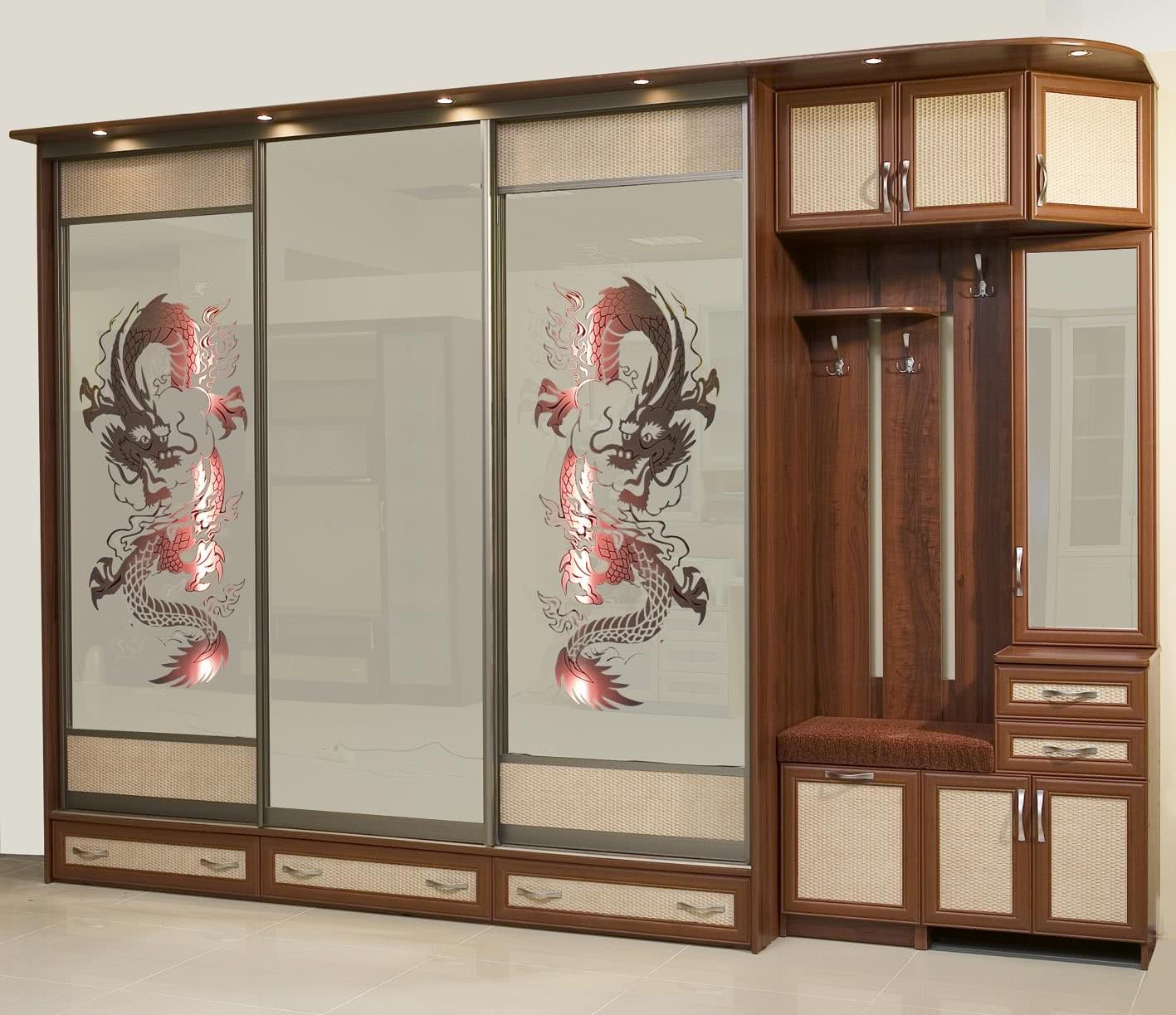 встроенные шкафы в прихожей фото цены