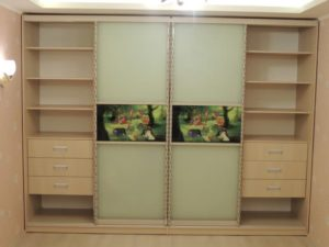 Шкаф купе четырех секционный в детскую комнату с фотопечатью