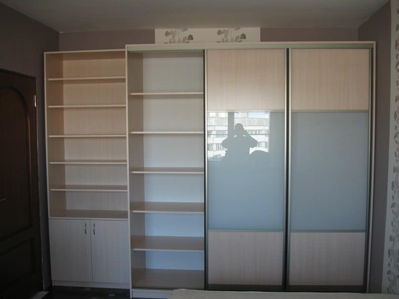 Наша работа: шкаф-купе, лдсп/стекло с пленкой балтийский шка.