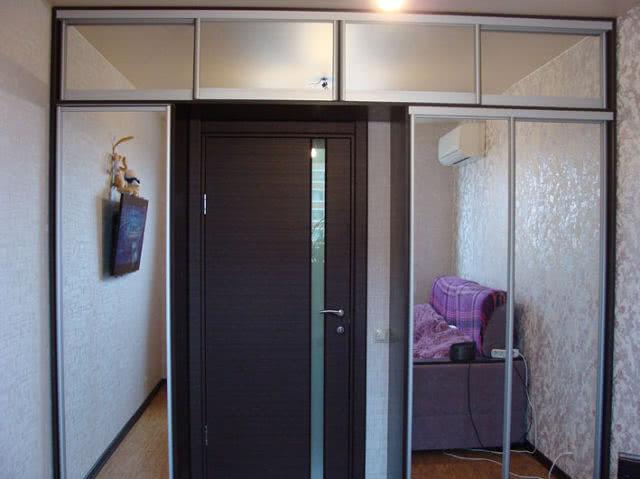 Шкафы купе с антресолью фото
