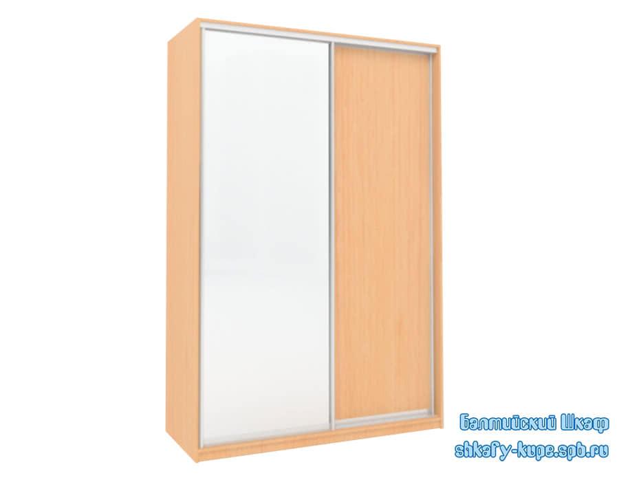 Шкаф купе шириной 1500 мм с одним зеркалом