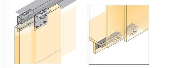 Схема крепления дверей купе hettich
