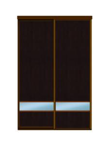 Двери для шкафов купе ЛДСП венге + зеркало