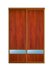 Двери для шкафов купе ЛДСП орех + зеркало