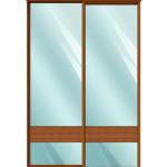 Двери для шкафов купе зеркало + вставка - бамбук