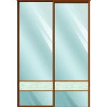 Двери для шкафов купе зеркало + вставка - декоративное стекло