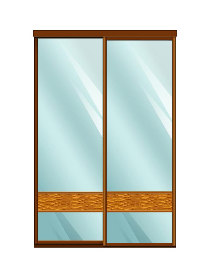 Двери для шкафов купе зеркало + вставка - декоративное зеркало