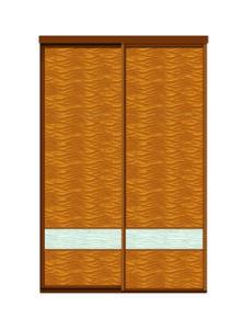 Двери купе декоративное зеркало + декоративное зеркало