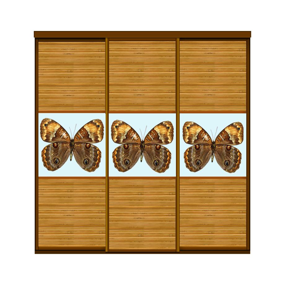 Двери купе бамбук_1+бабоч_корич