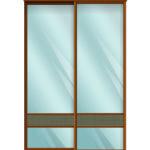 Двери для шкафов купе зеркало + вставка - Ротанг