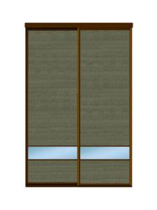 Двери купе ротанг + зеркало