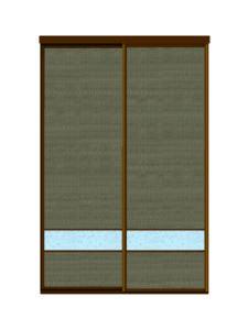 Двери купе ротанг + декоративное зеркало