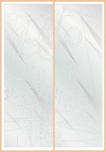 Пескоструйный рисунок для шкафов купе абстракция