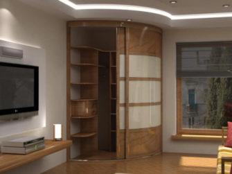 радиусный шкаф купе до потолка