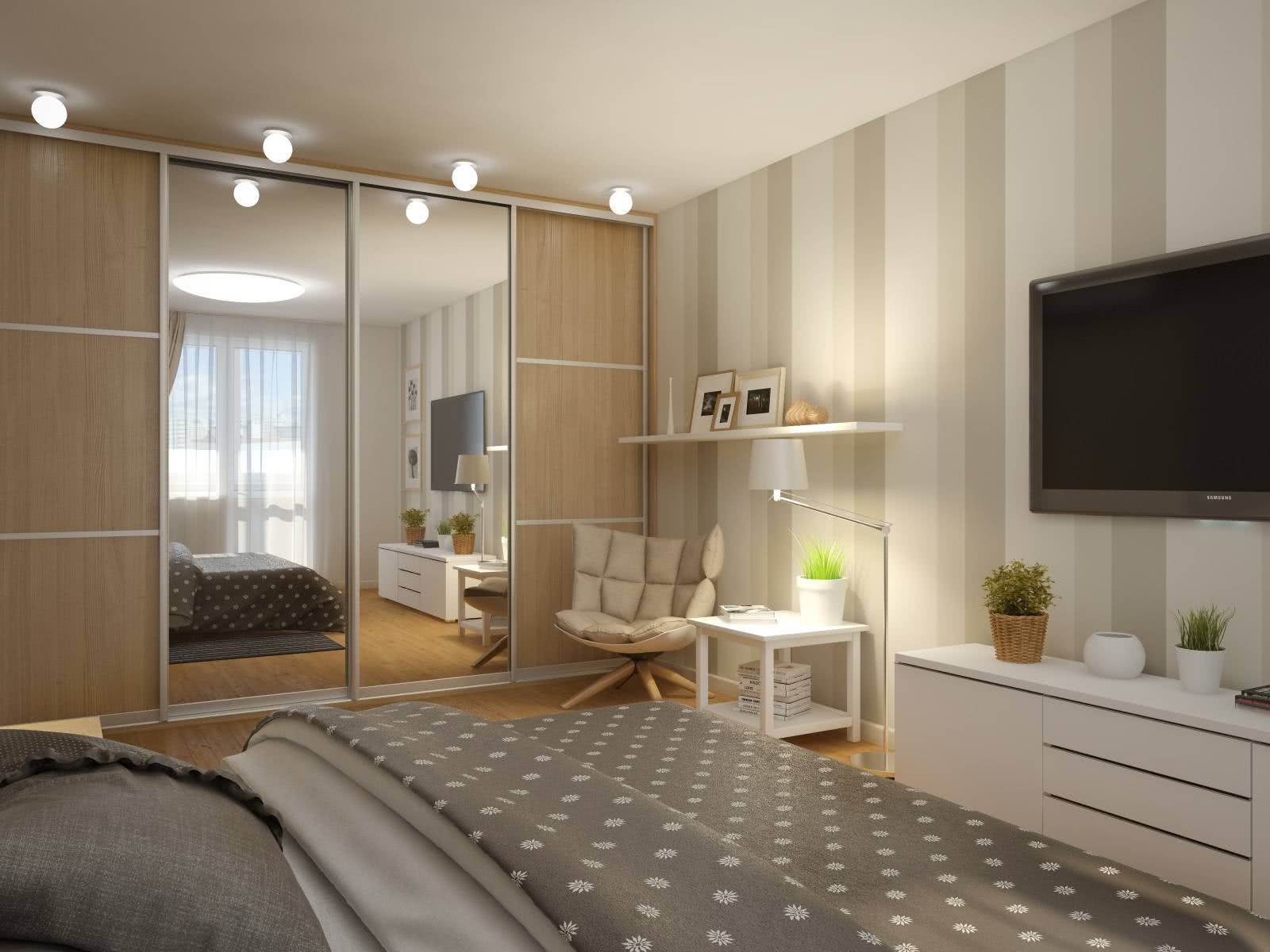 Шкаф купе в однокомнатной квартире Хрущевке