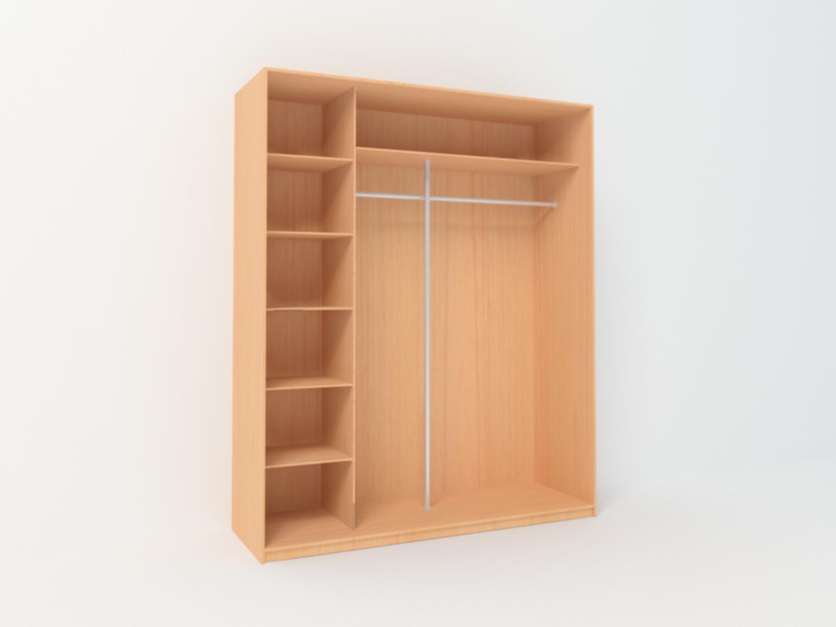 Шкаф купе двухдверный с зеркалом