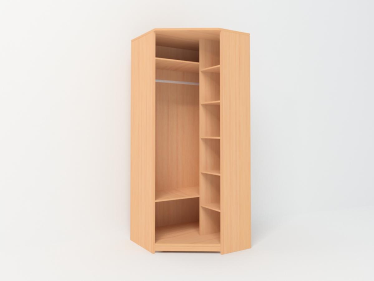 Угловой шкаф в спальню с консолью