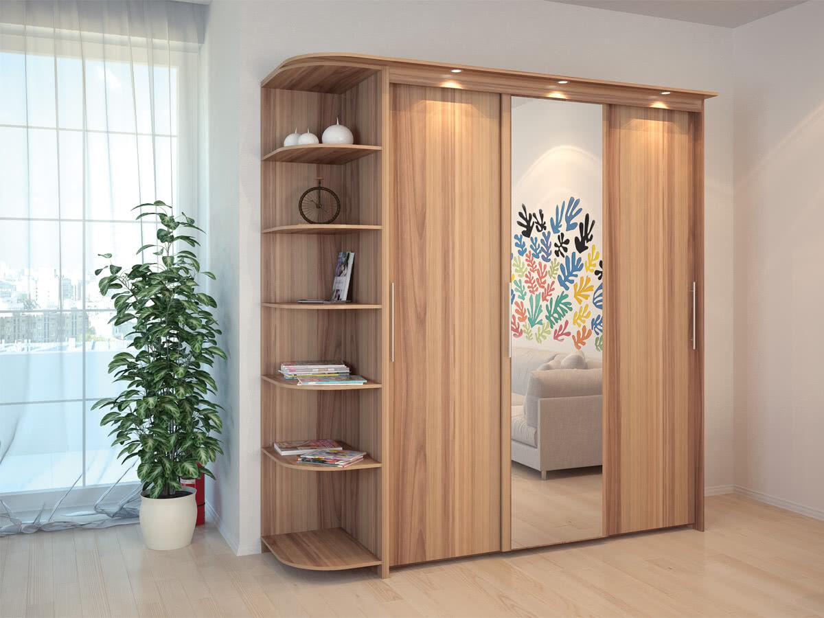 Шкаф дешево с зеркалом, консолью и подсветкой