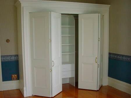 Шкаф с дверью гармошка на заказ