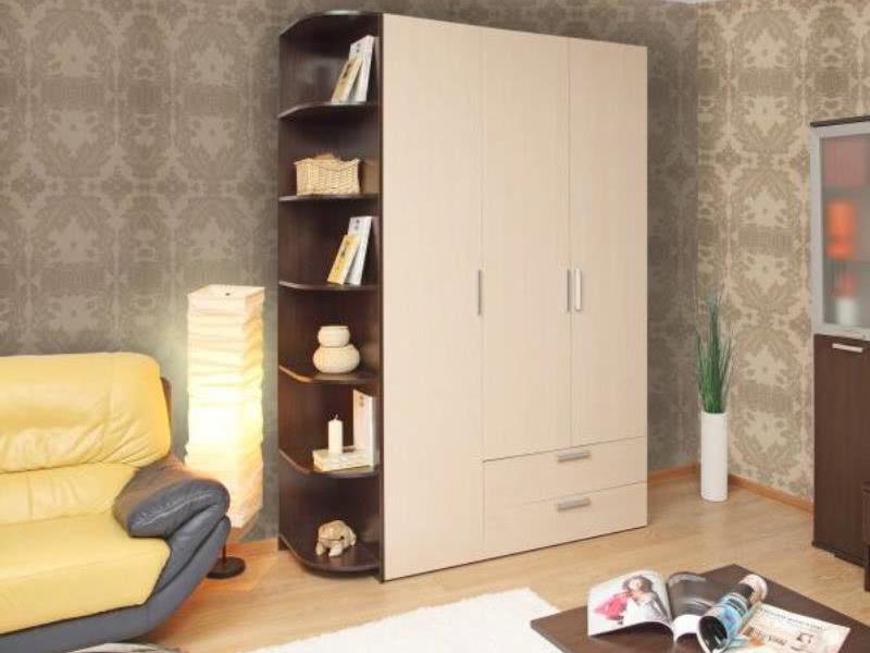 Шкаф для одежды распашной с ящиками выдвижными
