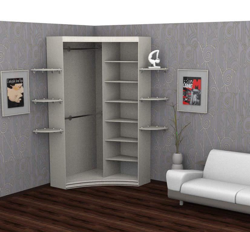 Угловой шкаф купе для одежды