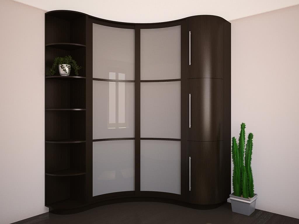 Угловой шкаф купе в гостиную (фото)