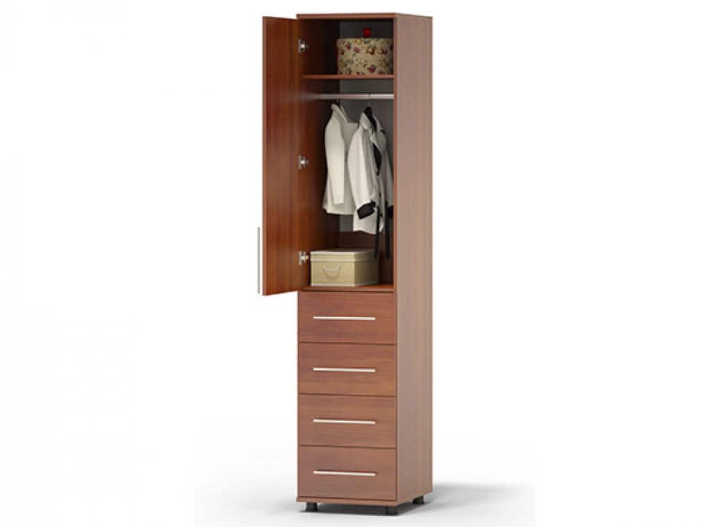 Узкий шкаф с выдвижными ящиками