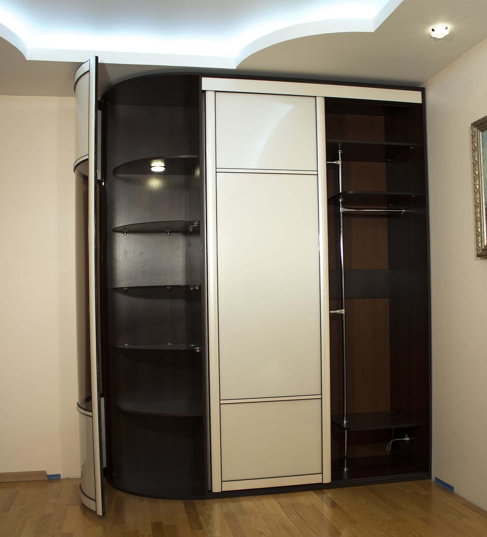 Радиусный шкаф купе от производителя недорого