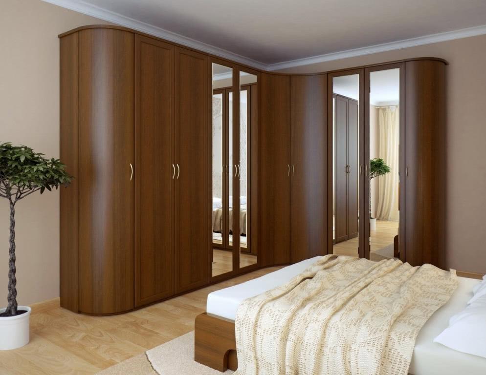 Угловой шкаф купе в спальню в СПб
