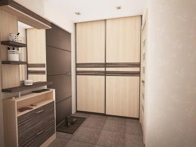 Шкаф купе для верхней одежды в прихожую
