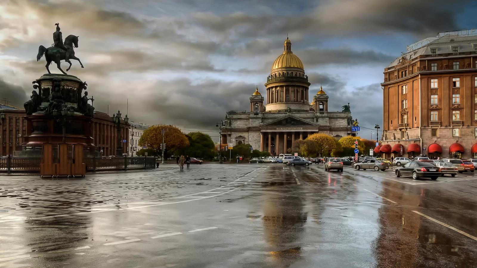 Шкаф купе с фотопечатью Санкт-Петербург
