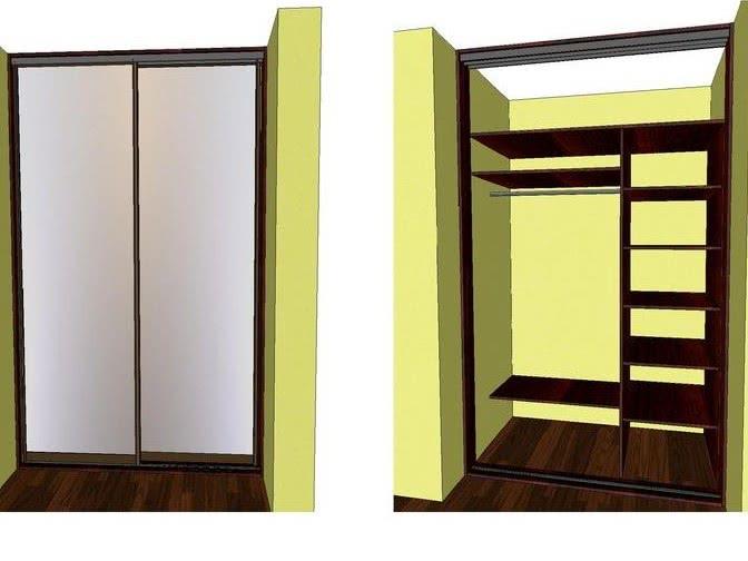 Встроенный шкаф-купе в коридор своими руками