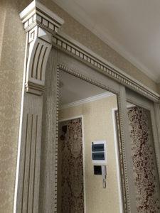 Встроенный шкаф купе Прованс с зеркалами