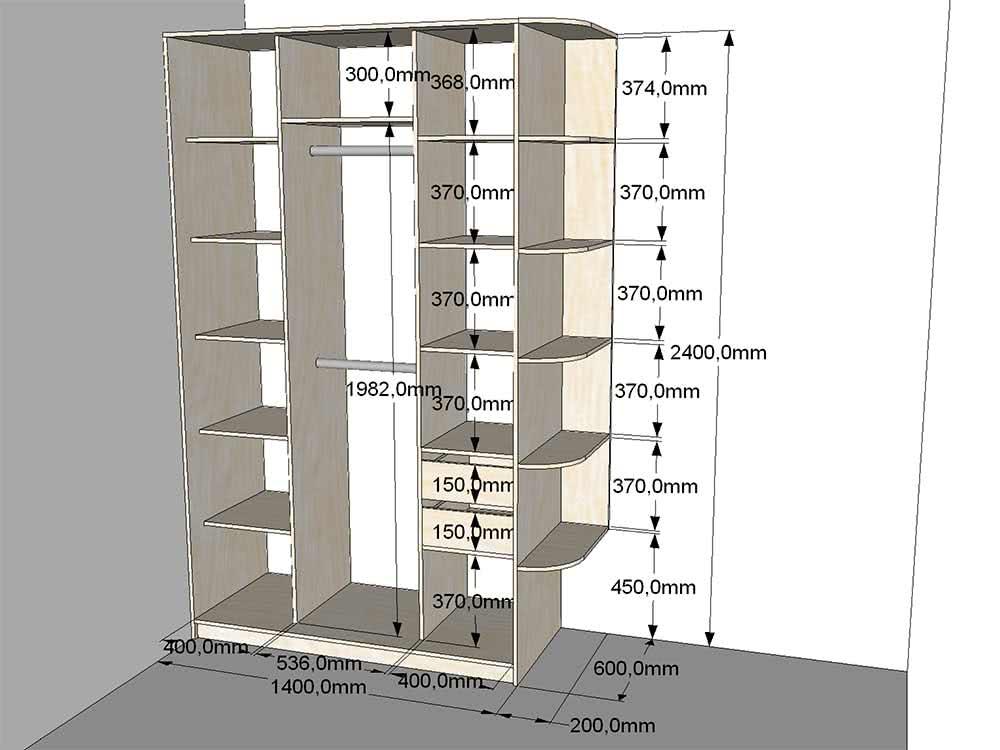 Недорогой трехдверный шкаф купе в детскую комнату