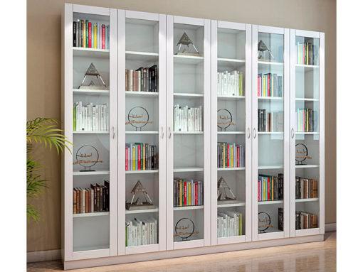 Книжный шкаф со стеклянными распашными дверьми