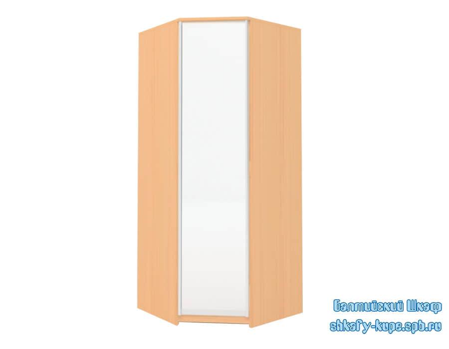 Стандартный угловой шкаф купе пятистенок с зеркалом
