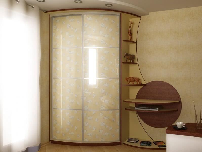 радиусный шкаф купе для детей