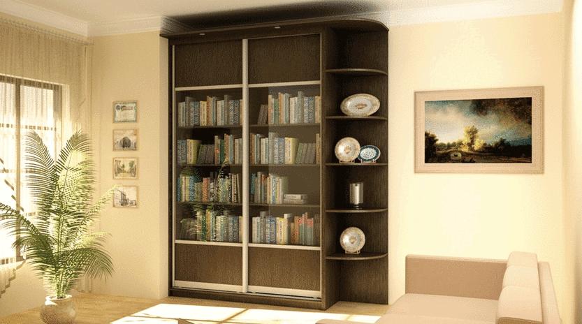 Книжный шкаф купе