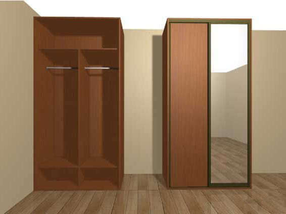 Шкаф купе для верхней одежды
