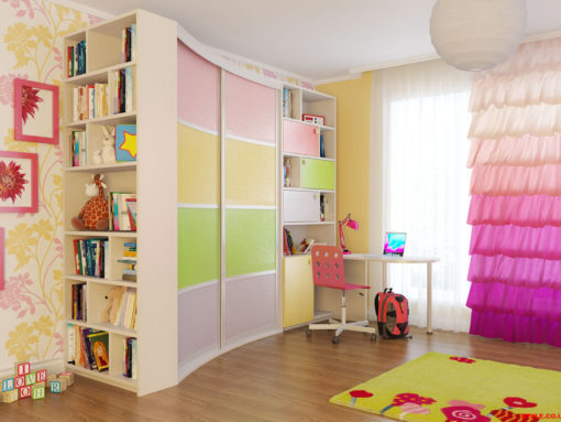 Шкаф купе для детской комнаты