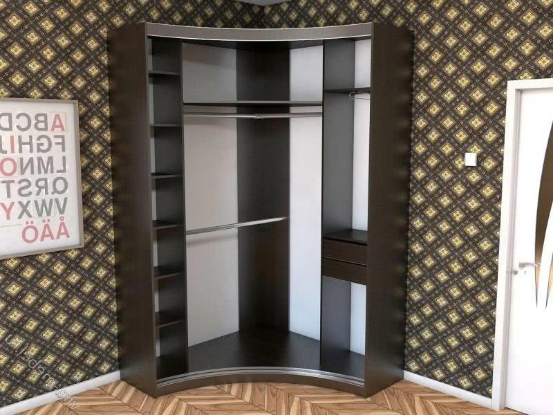 Угловой шкаф купе в коридор