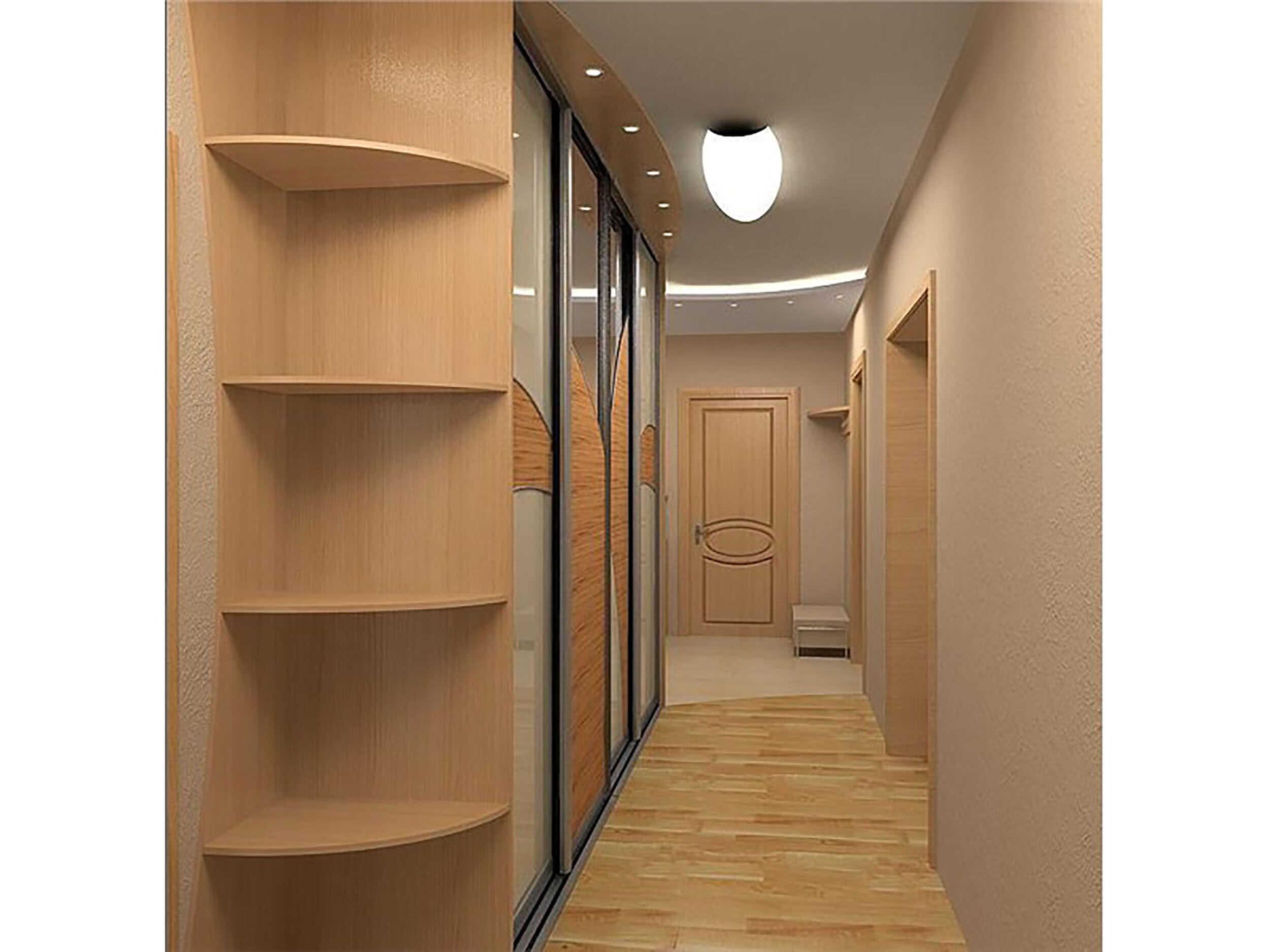 Узкий коридор со шкафом купе