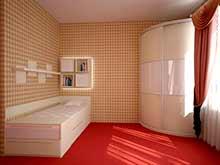 Радиусные угловые шкафы купе в спальню
