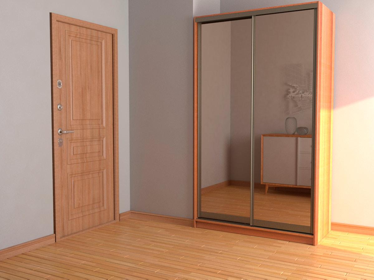 Зеркальный шкаф-купе шириной 1,2 метра
