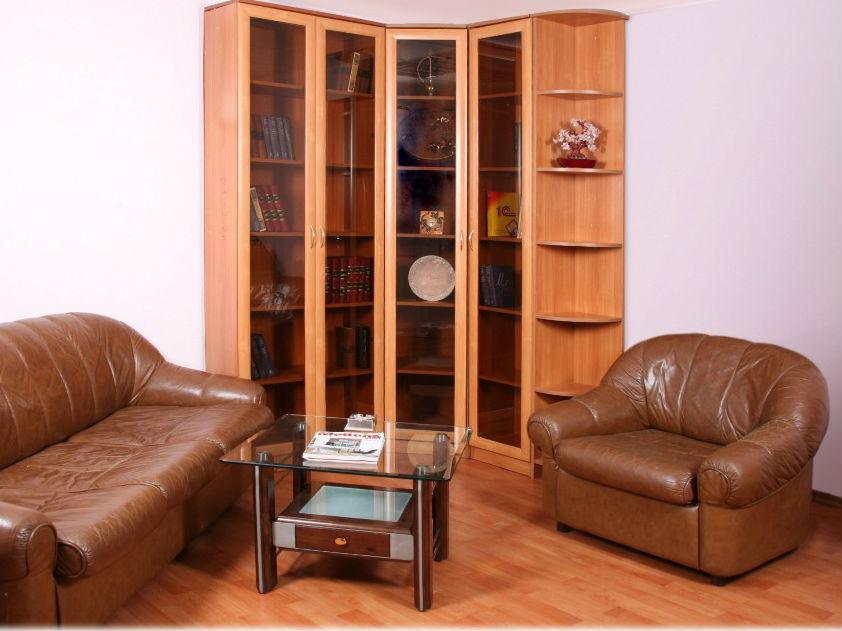 Книжные распашные шкафы в МДФ профиле