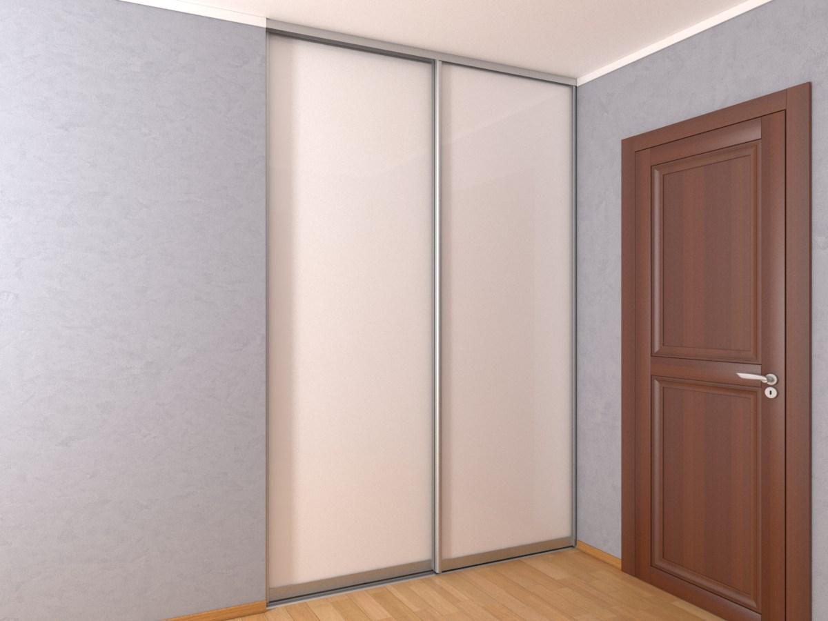 Белый встроенный шкаф-купе в нишу 1,8 метра