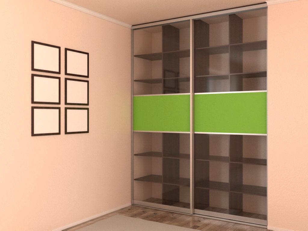Встроенный книжный шкаф-купе