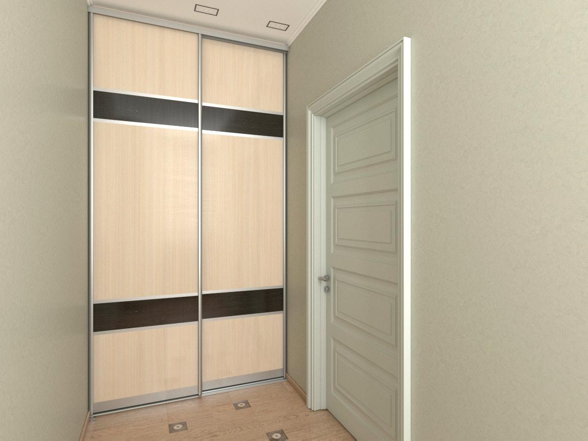 Встроенный шкаф-купе в коридор шириной 1,6 метра