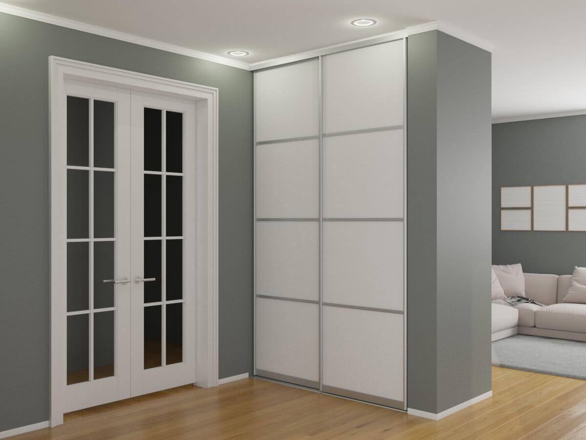 Встроенные шкафы-купе белого цвета