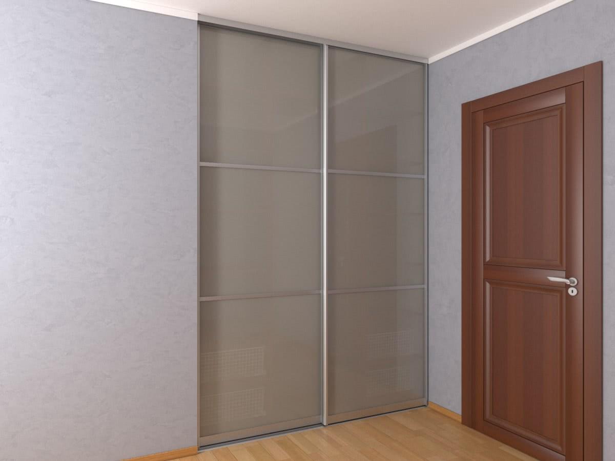 Матовый встроенный шкаф-купе в нишу шириной 1,8 метра